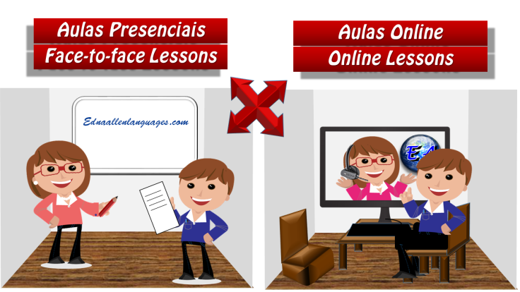 Aulas online x presenciais