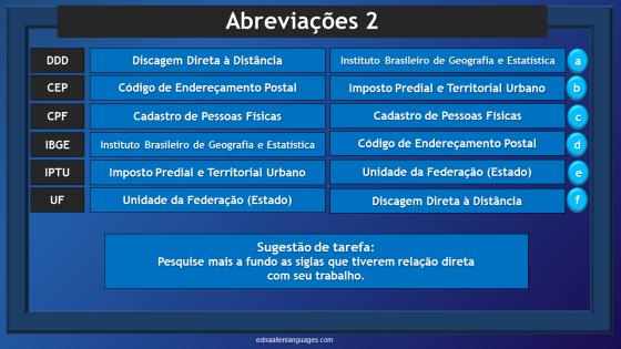 Abreviações e Siglas em Português 2